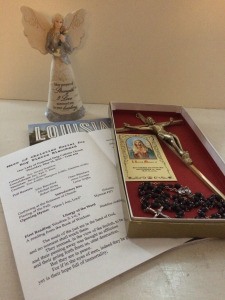 Religious items from my father's funeral